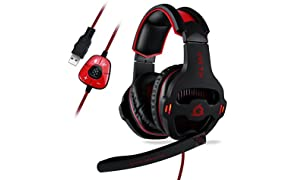 KLIM Mantis - Micro Gaming Headset - USB 7.1 - High Quality - For PC PS4 Gaming