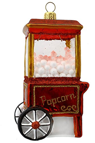 Hamburger Weihnachtskontor - Christbaumschmuck aus Glas -Popcornmaschine