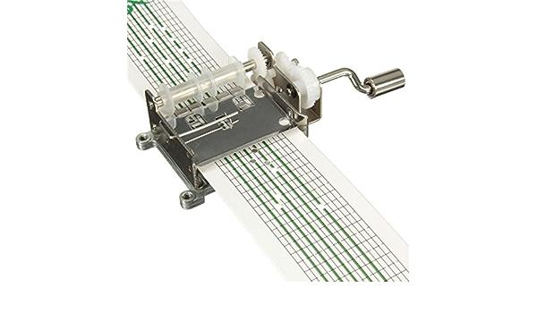 15 Note movimenti manovella Carillon Carillon manovella Fai da Te Set con perforatore Movimento e 20 Nastri di Carta HEEPDD Kit Carillon Fai-da-Te