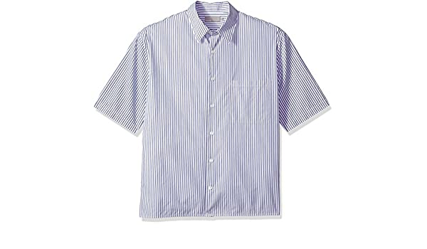 9ee77dbe Vince Men's Striped Half Sleeve Shirt: Amazon.in: Clothing & Accessories