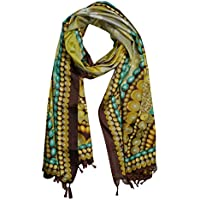 Women Colorful Scarves Shawl Silk Blend Printed Long Fashion Wraps Stole
