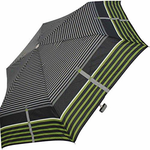 Fulton Öffnen /& Schließen Flach Kompakt Auto Regenschirm Schwarz