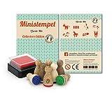 Stemplino, Mini Stempel Pferde - Mix, 8 Stempel mit Stempelkissen