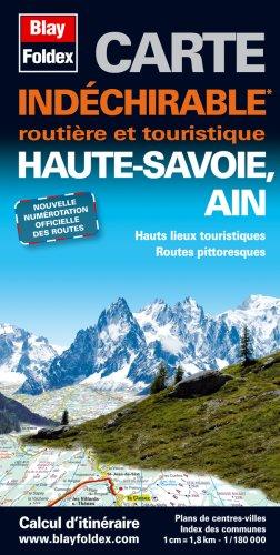 Haute-Savoie, Ain. Carte Routi Re et Touristique