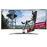 LG 34UC98-W 86,4 cm (34 Zoll) Monitor (HDMI, Thunderbolt 2, USB 3.0, ergonomischer Neigefuß mit Höhenverstellung, Curved Ultra Wide QHD) weiß