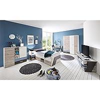 """Jugendzimmer komplett Set Kinderzimmer Schlafzimmer Möbel """"Ferdy I"""" preisvergleich bei kinderzimmerdekopreise.eu"""