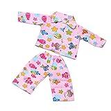 MagiDeal Puppen Pyjamas Schlafanzug Kleidung mit Fisch & Sterne Muster Für 18 Zoll Amerikanische...