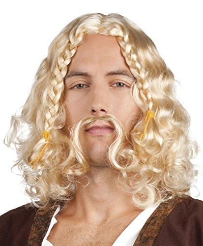 Boland 86363adultos peluca Vikingo Lars con bigote, One size