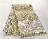 Floral Stickerei Braut Spitze Stoff 144,8cm Breite Perlen