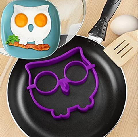 Fried Egg Pancake Formen, goodculler Silikon Eule Form Spiegeleier, Spiegeleier, Shaper Frühstück Küche Kochen Werkzeug