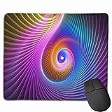 Gaming Mauspad 3d Abstract Fractal Bright Rubber Mousepad (30 x 25 cm)   Fransenfreie Ränder   Rutschfest