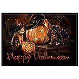 VEMOW populäre Halloween 5D Stickerei Party Dekoration Gemälde Strass eingefügt DIY Diamant Malerei (Mehrfarbig, 40cmx30cm)