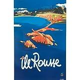Corse Affiche Ancienne de Île Rousse