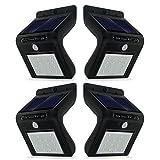 Generic REACHOPE 4 × Solarlampe mit Bewegungsmelder Solar Wandleuchte Solar Strahler mit 16 Leds für Innenhöfe Garage Garten usw.