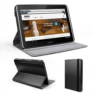 Anker® Hülle Samsung Galaxy Tab 2 10.1 P5100 P5110 Case Tasche Etui Schutzhülle - Einteiliges Rahmenloses Case Band Design aus PU Leder mit Ständer - Lebenslange Garantie