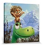 1art1 91559 Arlo & Spot - Arlo und Spot Poster Leinwandbild auf Keilrahmen 40 x 40 cm