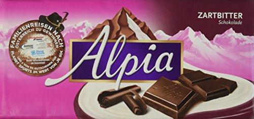 Alpia Schokolade Zartbitter, 20er Pack (20 x 100 g)