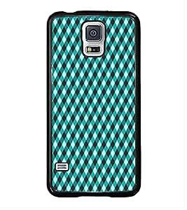 HiFi High Glossy Designer Phone Back Case Cover Samsung Galaxy S5 :: Samsung Galaxy S5 G900I :: Samsung Galaxy S5 G900A G900F G900I G900M G900T G900W8 G900K ( Blue Black Colorful Pattern Design )