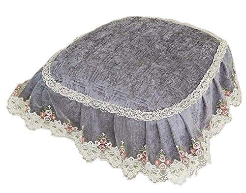 Chenille Garn Lace Stuhl Pads Anti-Rutsch weichen Esszimmer Stuhl Kissen, Grau