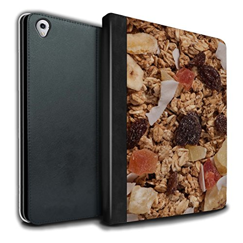 Kleie-müsli (Stuff4® PU-Leder Hülle/Case/Brieftasche für Apple iPad Pro 9.7 Tablet/Tropischen Müsli Muster/Getreide Kollektion)