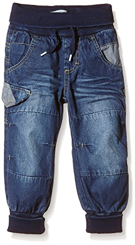 NAME IT Baby – Jungen Jeanshose NITRAY HIGH M BAG/XR DNM PANT NOOS, Gr. 80, Blau (Dark Blue Denim)