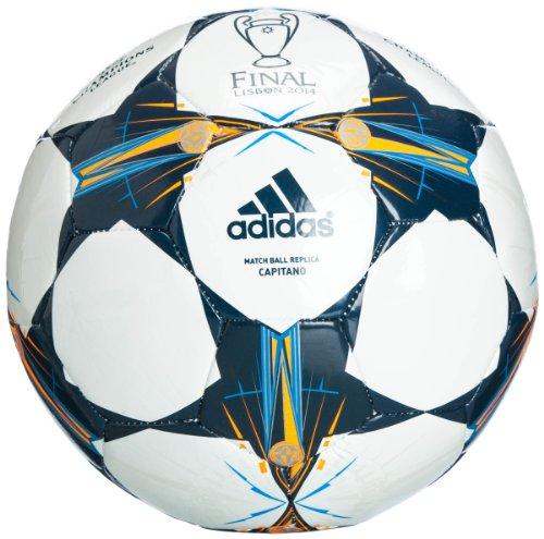 adidas Kinder Ball Finale Lissabon Capitano, White/Triblu/Solar Blue, 4, G82967 -