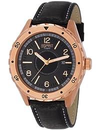 Esprit Herren-Armbanduhr XL Alamo Rosegold Analog Quarz Leder