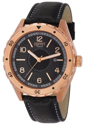 esprit-alamo-mens-quartz-watch-with-black-dial-analogue-display-and-brown-leather-strap