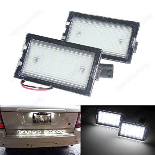 Ang Rong Numero di targa luce lampada LED bianco nessun errore (1coppia)