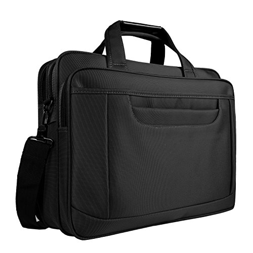 VANCOO Laptop Aktentasche, 39,6 cm Laptop Tasche, Business Office Tasche für Herren Damen, Stilvolle Nylon Multifunktions Schulter Messenger Tasche für Notebook/Computer/Tablet/MacBook/Acer/HP/DELL/Lenovo (schwarz) (Tasche Nylon Schulter)