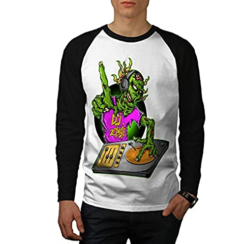 Dj Zombi La Musique Mode Homme M T-shirt à manches longues   Wellcoda