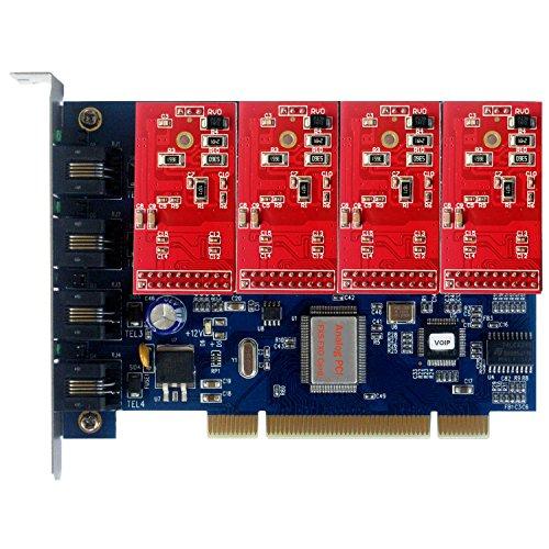 Quad Spannweite FXO, Analog, mit 4 Port FXO, Sternchen, (4-port Fxo Analog)