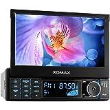 """XOMAX XM-2VRSU728 radio del coche / reproductor multimedia / naviceiver con el software de navegación GPS + incluyendo mapas de Europa (38 países) + Bluetooth + 7 """"/ 18 cm pantalla táctil HD + No hay unidad de CD + puerto USB (hasta 32 GB!) + Ranura para tarjetas Micro SD (hasta 32 GB!) + MPEG4, MP3, WMA, AVI, DivX y otros + Conexiones: subwoofer, cámara de vista trasera, el control a distancia del volante + Doble DIN (2-DIN) + mando a distancia, marco de montaje, la abertura"""