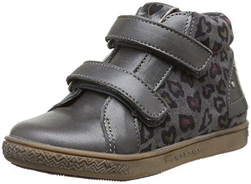Babybotte Aublada, Chaussures Lacées Fille Gris (211 Gris Imp Cœur)