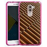 Huawei Honor 6x Bumper Hülle Bumper Case Schutzhülle Dachziegel Ziegel Look Muster