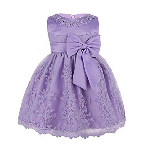 YiZYiF Baby Mdchen Kleid Prinzessin Hochzeits Taufkleid Blumenmdchen Kleider Party Festlich Kleid Festzug Kleidung Kleinkind, Hell Lila, 74-80 (Herstellergröße 6M) (Halloween-kostüme Schönes Baby)