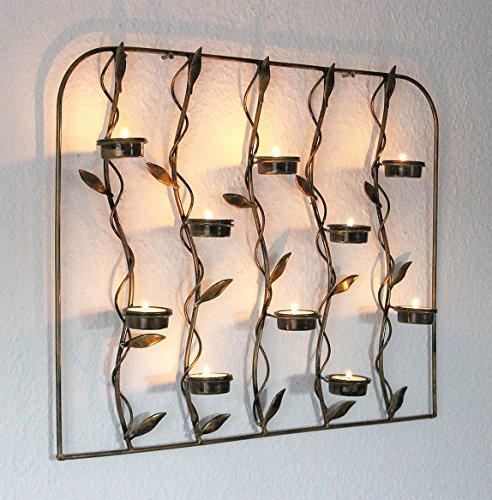 Wandteelichthalter 10-0370 Wandkerzenhalter aus Metall 53 cm Teelichthalter