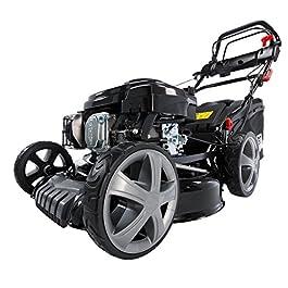 BRAST 20196 Power Tondeuse à Gazon Essence 4,4KW (6PS) avec automoteur à Transmission GT 196CCM Roues Big Wheeler à roulements à Billes Carter en tôle d'acier Easy Clean Largeur de Coupe 51cm
