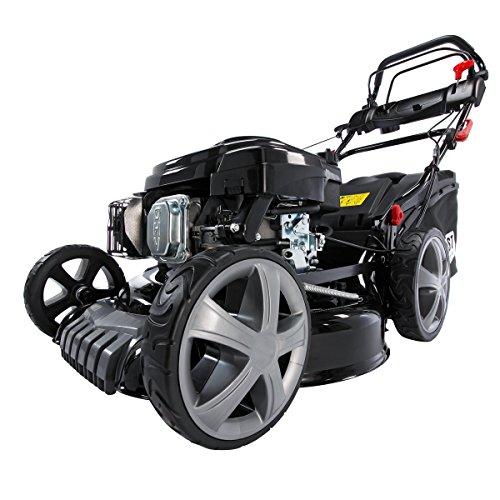 Benzin Rasenmäher BRAST 4 in 1 20174 POWER 3,7kW (5PS) Selbstantrieb GT Markengetriebe kugelgelagerte Big-Wheeler-Räder Stahlblechgehäuse Easy Clean