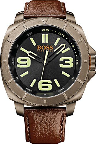 Boss Orange Men's Analogue Quartz Watch, Sao Paulo, Leather 1513164