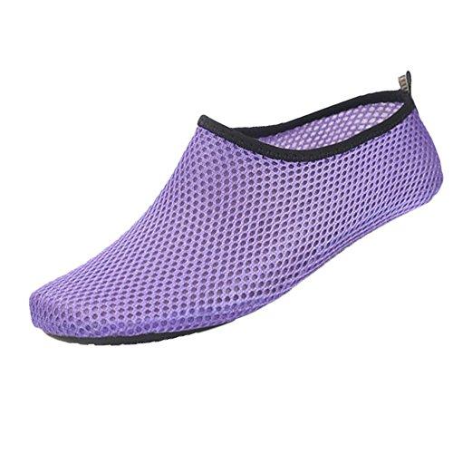 CUTUDE Herren Damen Barfuß Wasser Schuhe Unisex Aqua Shoes für Strand Schwimmen Surf Yoga Jungen Mädchen (Lila, 38-39 EU) -