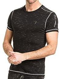 BLZ jeans - T-shirt homme noir avec poche bomber