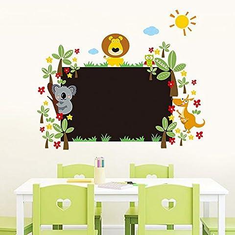 PeiTrade Stickers pour enfants Stickers muraux Nouveaux Petits Animaux Tableau noire Adhésif mural Autocollant Autocollant Papier peint Papier peint Autocollant Autocollant Mural pour maison Chambre