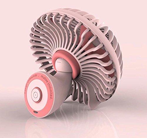 ELEGENCE-Z Kleiner Pilz-Tischplattenminifan Kreativer USB Kleiner Fan-Bettseiten-Tragbarer Minifan,Pink