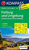 Freiburg und Umgebung - Kandel - Schauinsland - Feldberg: Wanderkarte mit Kurzführer, Radwegen und Loipen. GPS-genau. 1:25000 (KOMPASS-Wanderkarten, Band 889)