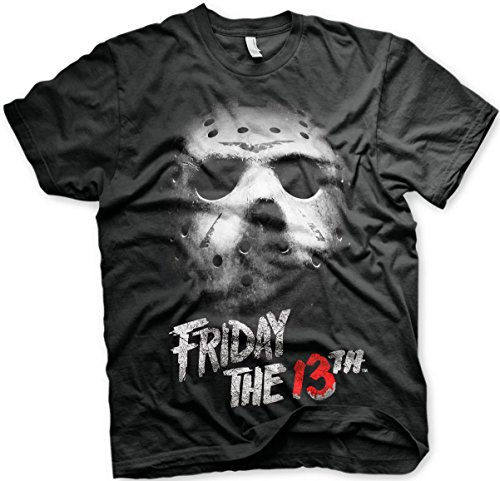 (Freitag der 13. T-Shirt Maske Größe M friday the 13th mask)