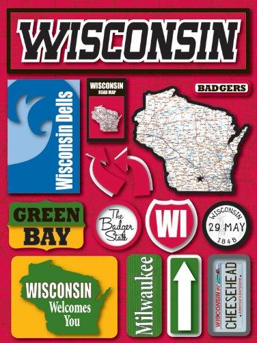 Unbekannt Erinnerung Wisconsin Jet Setter dreidimensionale Aufkleber
