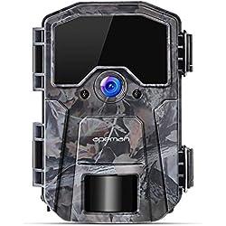 APEMAN Caméra de Chasse 16MP 1080P caméra de Faune, caméra de Jeu à détection la Nuit sans Brillance 940nm IR LEDs, laps de Temps, minuterie, Conception étanche IP66 (Grey)