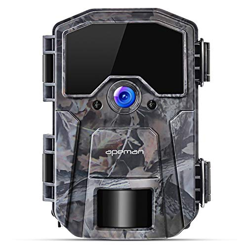 apeman Trail Camera 16MP 1080P Wildlife Camera, Night Detection Game Camera with No Glow 850nm IR LEDs, Time Lapse, Timer, IP66 Waterproof Design