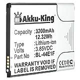 Akku-King Akku ersetzt LG BL-44E1F, EAC63341101, PAC63320502 - Li-Ion 3200mAh - für F800K, H910, H915, H918, H990, LS997, US996, V20, VS995